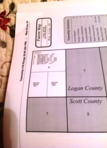 The Old Brown Place -- Familly Map (Logan County)